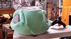 shaping foam work front