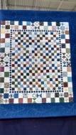The Ohio Star patterns in the center of this quilt were SO TINY!
