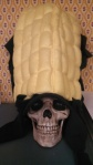 Yorick models my classic corn hat.