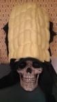 Yorick models my classic corn hat.