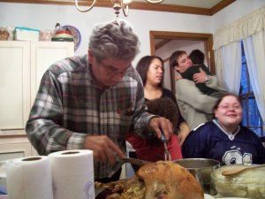 Thanksgiving 2006 - you can only see a portion of the typical craziness.