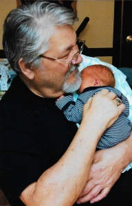 Dad, with Samuel in January 2015