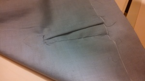 Inside view of the cuff placket