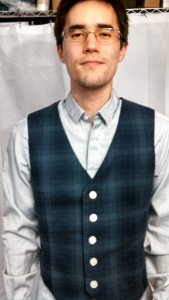 Finished shirt with one of Robert's hand-made vests