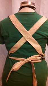 Criss-cross apron straps