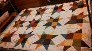 Sawtooth quilt that will, one day, be finished